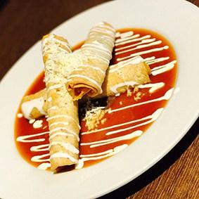 flautas de pollo la fondue mexicana